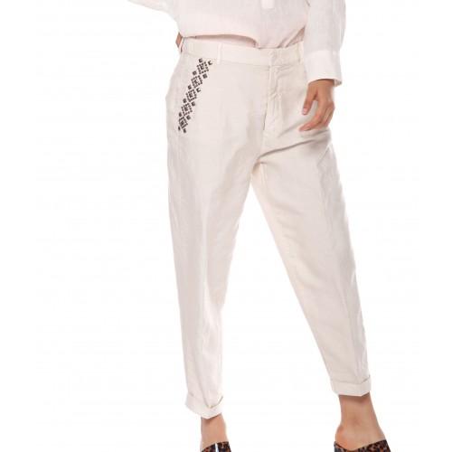 Pantalon MASON'S Linda Ecru