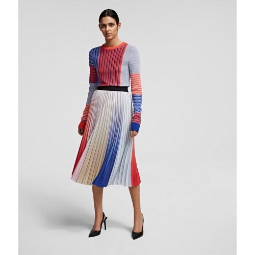 Jupe plissée Multicolore