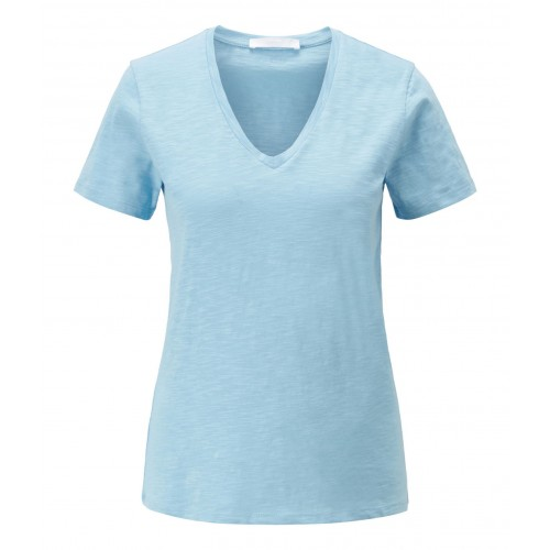 T-shirt col V Hugo Boss Emodern Bleu Ciel