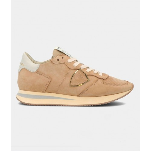 BASKETS PHILIPPE MODEL TRPX VINTAGE NUBUCK BEIGE TWLD NB06