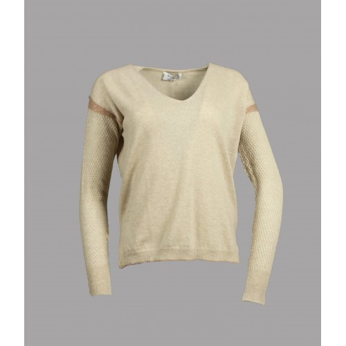 PULL CAHUTE A.POIL BEIGE