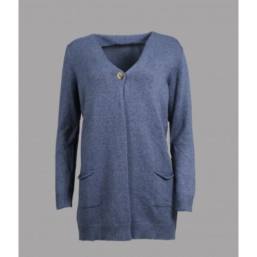 Maxi Cardigan Gran Sasso Bleu 13260