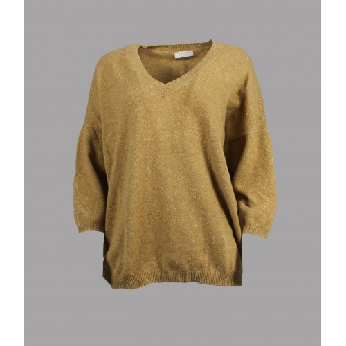 Pull Ample Manches 3/4 Gran Sasso Beige 23223