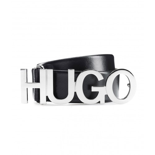 CEINTURE ZULA HUGO EN CUIR NOIR 50391327
