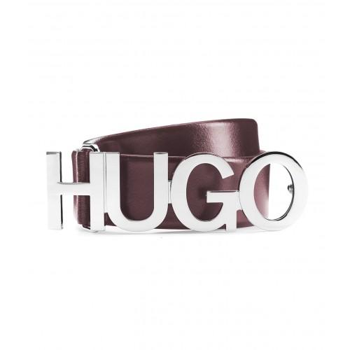 CEINTURE LARGE ZULA HUGO EN CUIR BORDEAUX 50391327