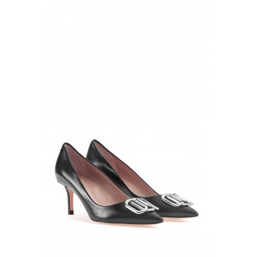 ESCARPINS PIPER PUMP HUGO EN CUIR NOIR 50435231