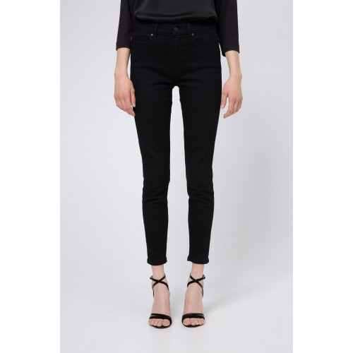JEANS CROPPED CHARLIE HUGO EN DENIM NOIR 50430428