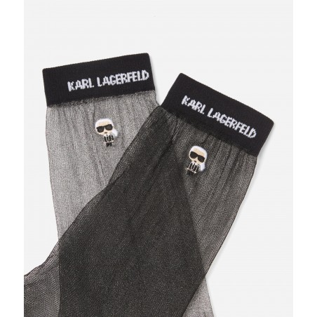 PACK CHAUSSETTES KARL LAGERFELD NOIR 205W6002
